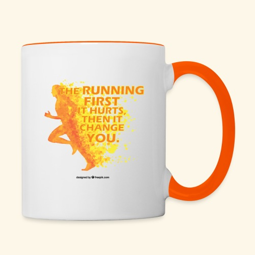 Motivo _ The Running First it Hurts - Tazze bicolor