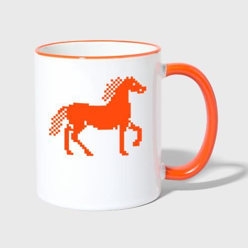 Cheval Pixel - Mug contrasté