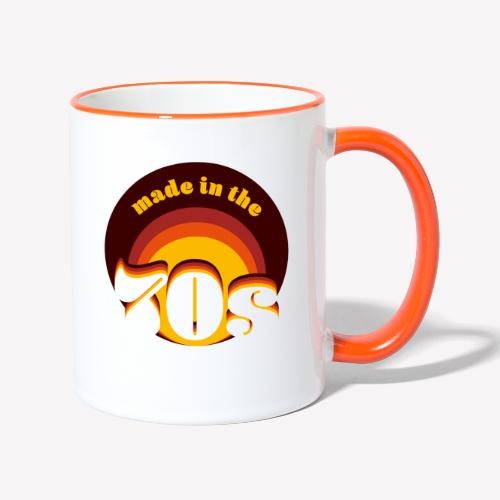Made in the 70s - Tasse zweifarbig