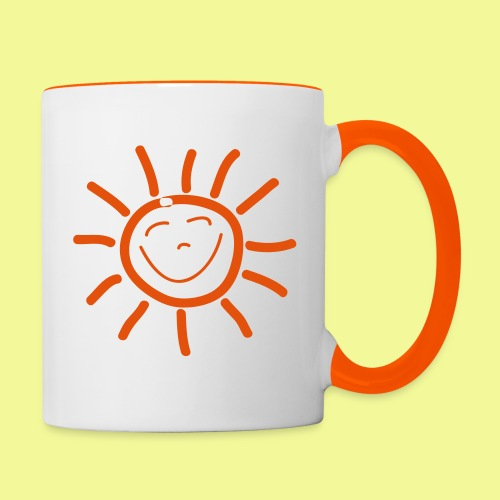 Sonne - Tasse zweifarbig