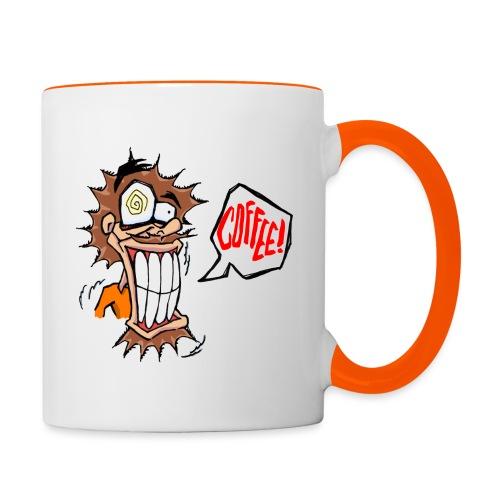 Cofffeee!!! Vater - Tasse zweifarbig