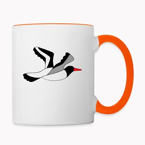 Huîtrier pie nature - Mug contrasté