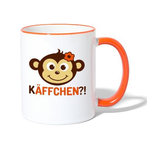 Monkey Käffchen Girl 3 - Tasse zweifarbig