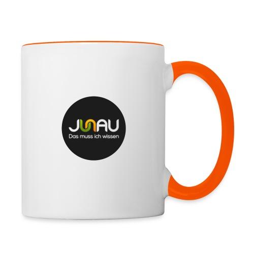 JUNAU - Das muss ich Wissen (rund) - Tasse zweifarbig