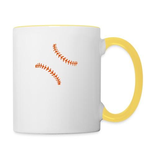 Realistic Baseball Seams - Contrasting Mug