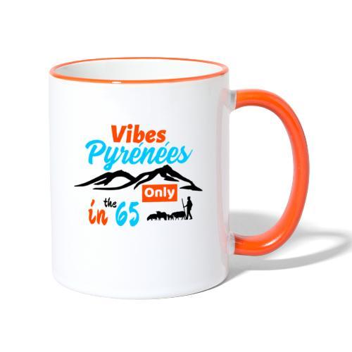Ambiance Pyrénées et brebis... - Mug contrasté