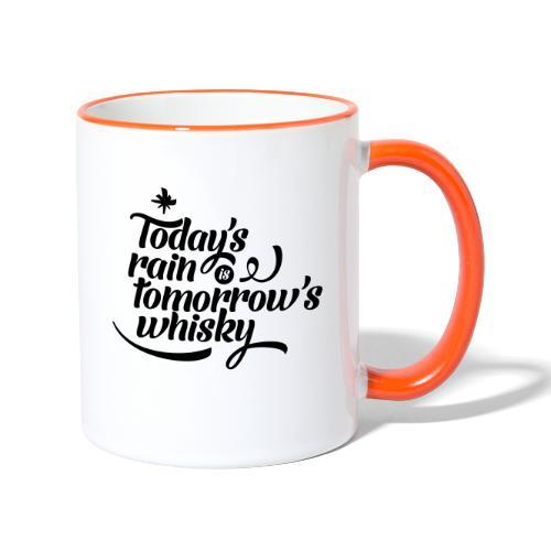 Today's Rain - Contrasting Mug