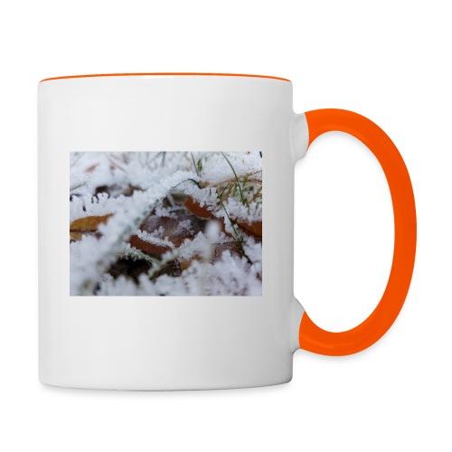 Schneekristalle - Tasse zweifarbig
