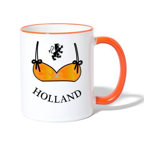 Voetbal Bikini Nederlandse Leeuwin Oranje - Mok tweekleurig