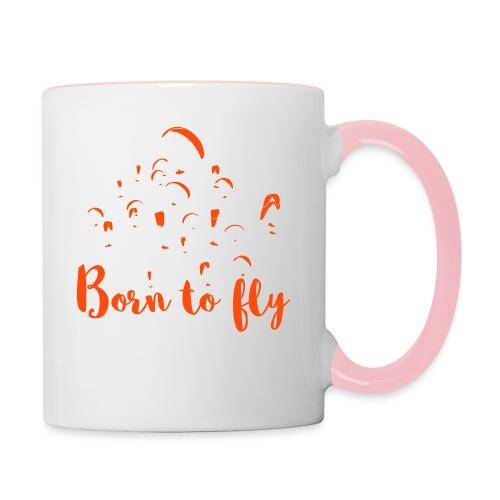 Born to fly - Tasse zweifarbig
