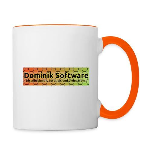 Dominik Software Banner - Tasse zweifarbig