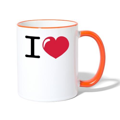 i love heart - Mok tweekleurig