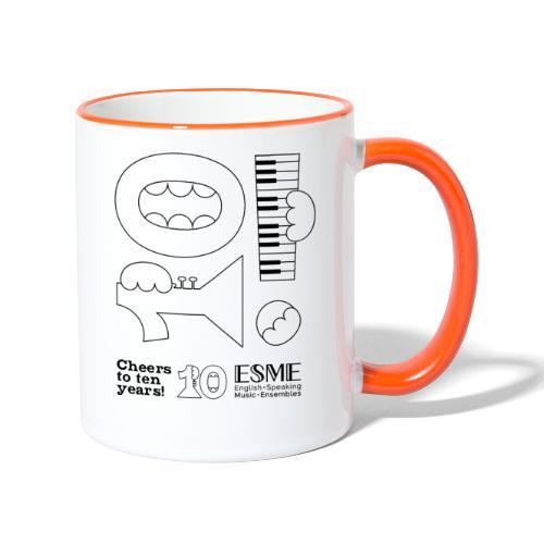 ESME Anniversary Simple Design Schwartz - Tasse zweifarbig