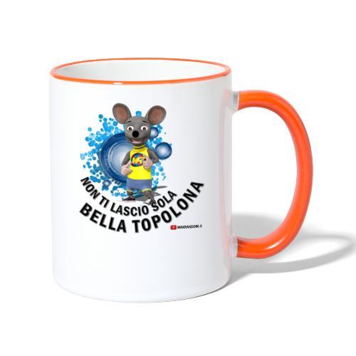 Bella Topolona testo Nero - Tazze bicolor