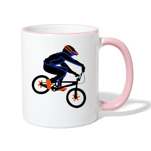 BMX Rider Dark - Mok tweekleurig