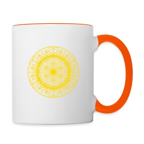 Ursonne des Lebens gold - Tasse zweifarbig