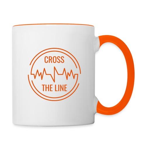 CROSS THE LINE - Mug orange - Mug contrasté
