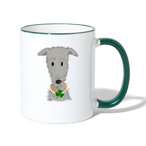 Irish Wolfhound - Tasse zweifarbig