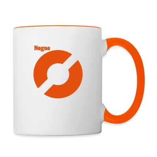Oransje logo - Tofarget kopp