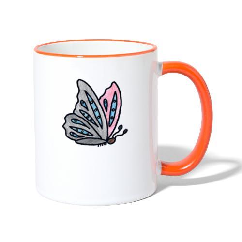 Fjäril - Tvåfärgad mugg