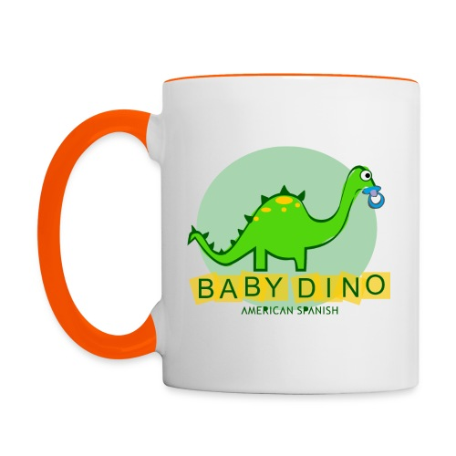 American Spanish Baby Dino - Taza en dos colores