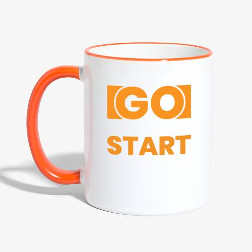 GO OUT THERE, START CREATING!! - Contrasting Mug