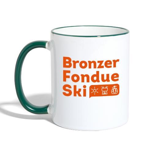 Bronzer, Fondue, Ski - Mug contrasté