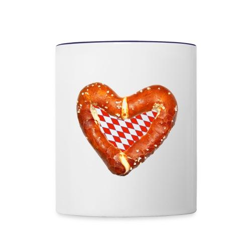 Brezenherz rot - Tasse zweifarbig