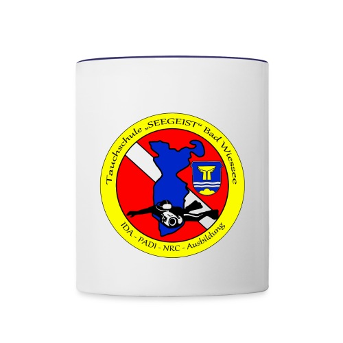 Tauchschule Logo - Tasse zweifarbig