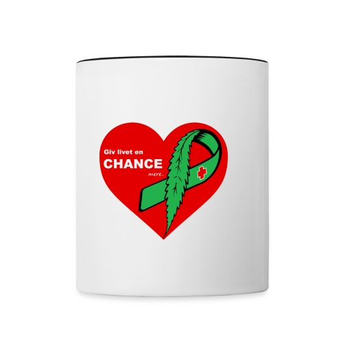 Giv livet en chance mere - Tofarvet krus