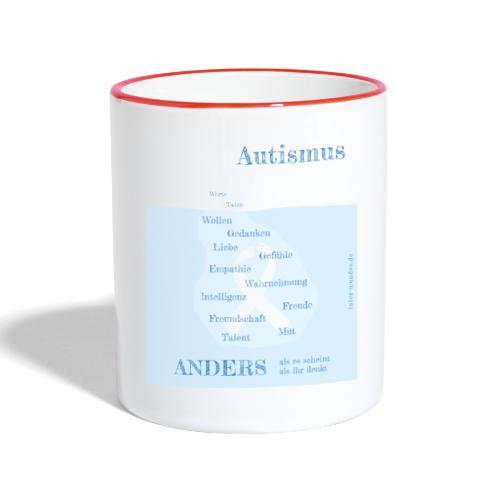 Autismus - anders als man denkt - Tasse zweifarbig