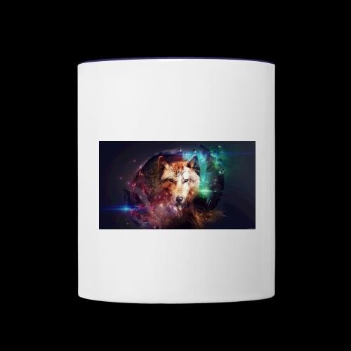 Lobo extraordinario - Taza en dos colores