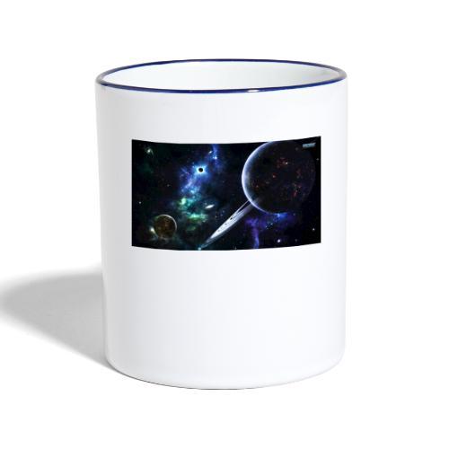 Universum /Saturn - Tasse zweifarbig
