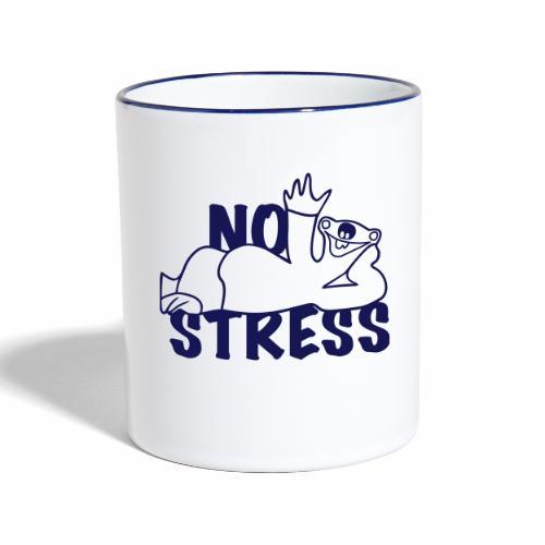 No Stress - Tasse zweifarbig
