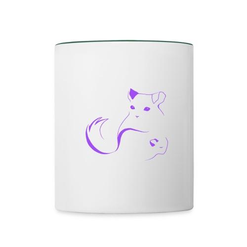 logo erittain iso violettina 1 png - Kaksivärinen muki