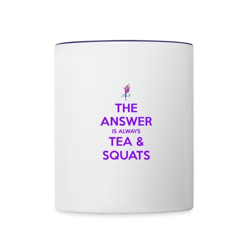 the answer is always tea squats jpg png - Tasse zweifarbig