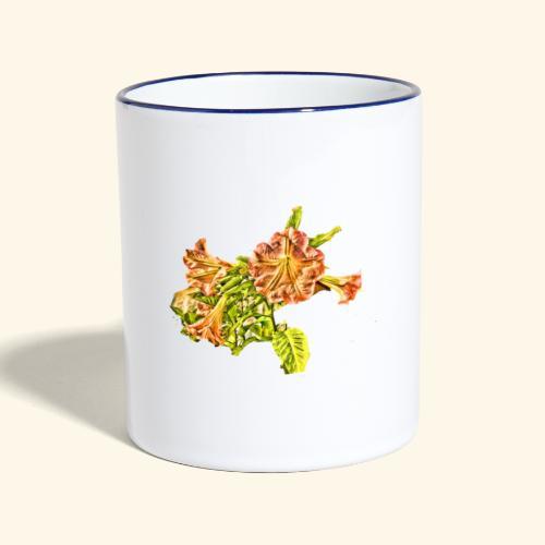 Trompetenbaum Blüten von S.A.R.A. - Tasse zweifarbig
