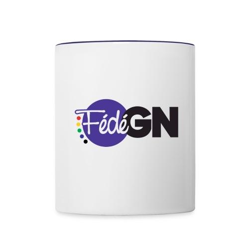 Logo FédéGN - Mug contrasté
