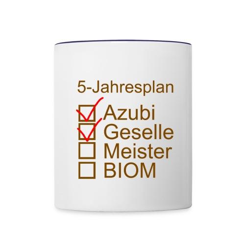 5-jahres-plan - Tasse zweifarbig