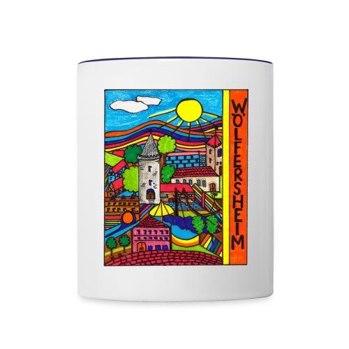 woelfersheimgemalt3 - Tasse zweifarbig