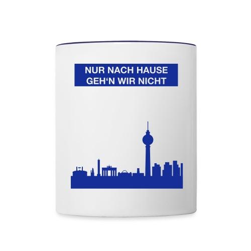 Berlinskyline_weiß - Tasse zweifarbig