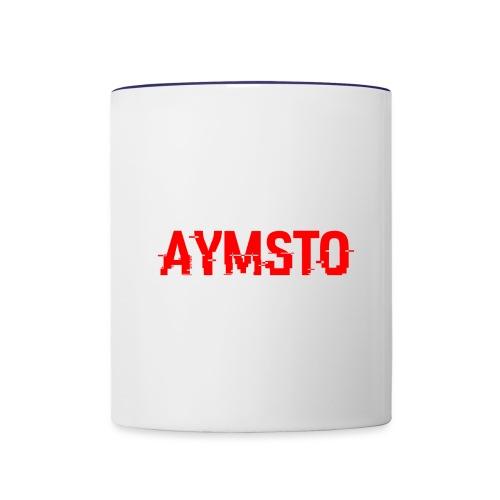 Aymsto/Rouge/Log - Mug contrasté