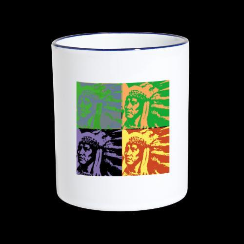 POP ART AMERINDIEN - Mug contrasté