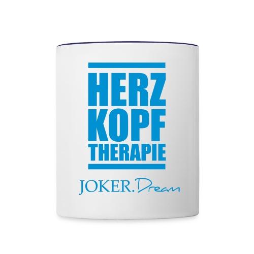 herzkopf - Tasse zweifarbig