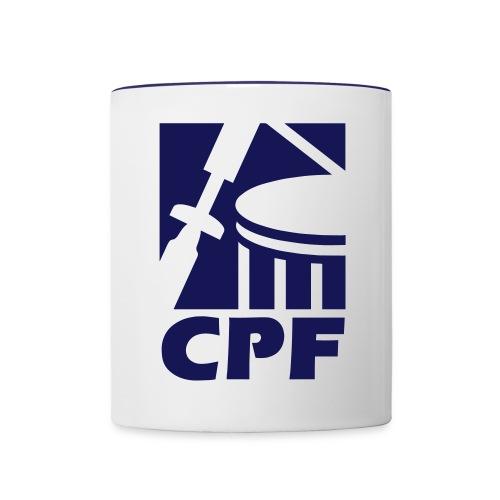 Logo CPF - Tasse zweifarbig