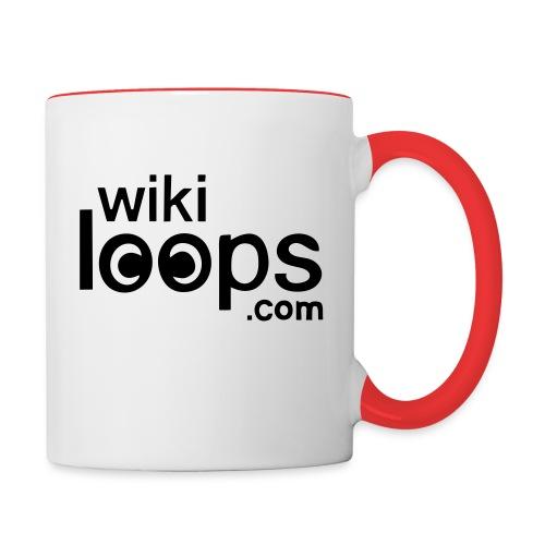 wikiloops square logo - Contrasting Mug