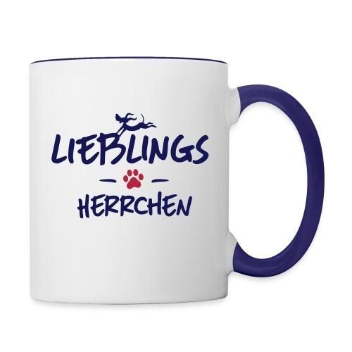 Vorschau: lieblings herrchen - Tasse zweifarbig