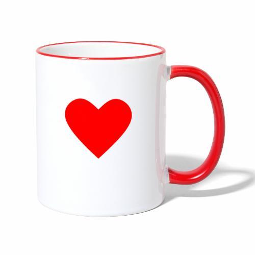 Kahvikuppi - Sydän - Kaksivärinen muki