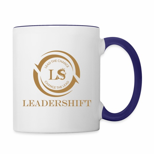 Leadershift Logo Schrift - Tasse zweifarbig