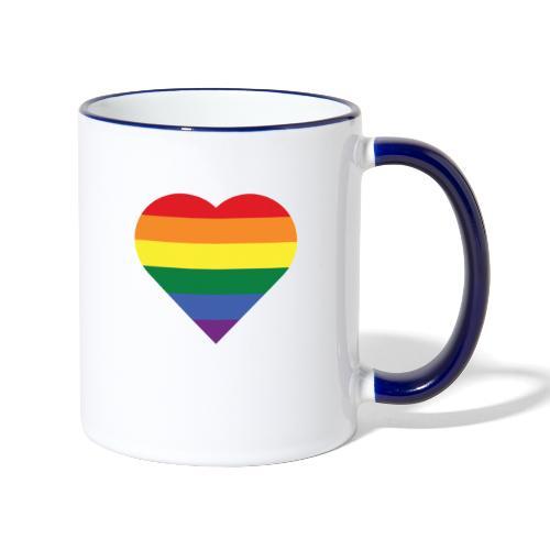 RainbowHeart - Contrasting Mug